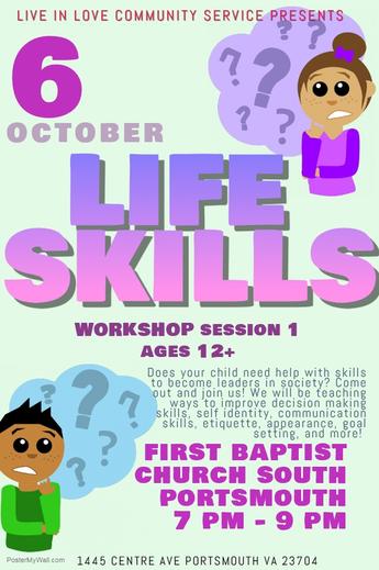 Life Skills Workshops poster