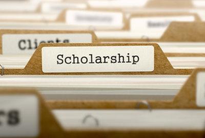 folder with scholarship tag